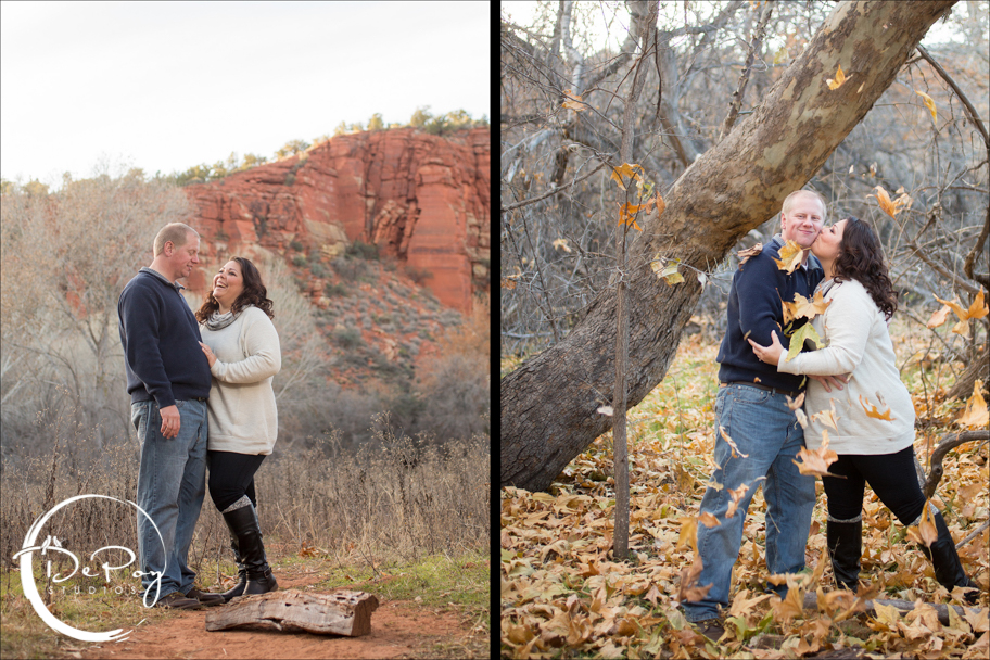 Flagstaff wedding photographer, photographers, DePoy Studios, Sedona, Flagstaff, Flagstaff Ranch, wedding, engagement, engagement location, Arizona engagement, couple, love, leafs, fall, photo