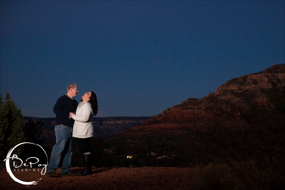 Sedona, Flagstaff, DePoy Studios, sunset, Sedona engagement, Sedona engagement location, Flagstaff Ranch, wedding, Flagstaff wedding photographer, photographers,