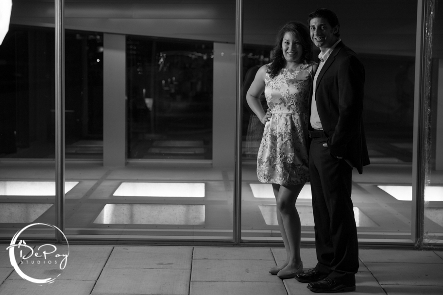 Phoenix engagement photos ASU, Chandler wedding photographer, Phoenix night life, City life, fun engagement photos, black and white photos, SoHo63, wedding, photography, photos, Gilbert wedding photography, Chandler venues, Phoenix, Downtown Phoenix, city night, couples, love